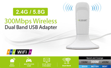 EDUP EP-DB1305 300Mbps Wireless Dual Band USB Adapter WIFI Network Adapter Free Shipping
