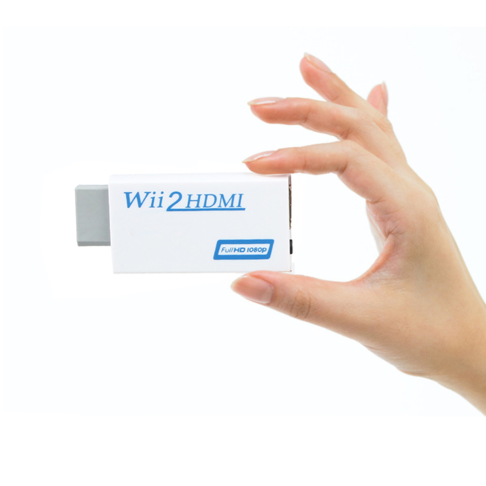1Pcs New White for Wii To HDMI Wii2HDMI 720P 1080P Full HD Upscaling Converter Connector Adapter