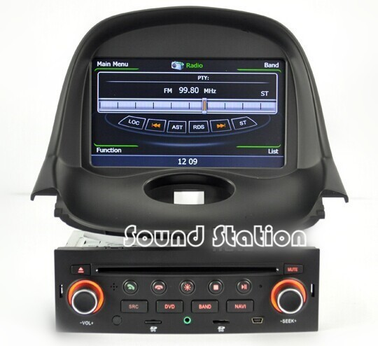 for peugeot 206 car styling tuning accessories gps navigation radio stereo touch screen dvd cd. Black Bedroom Furniture Sets. Home Design Ideas
