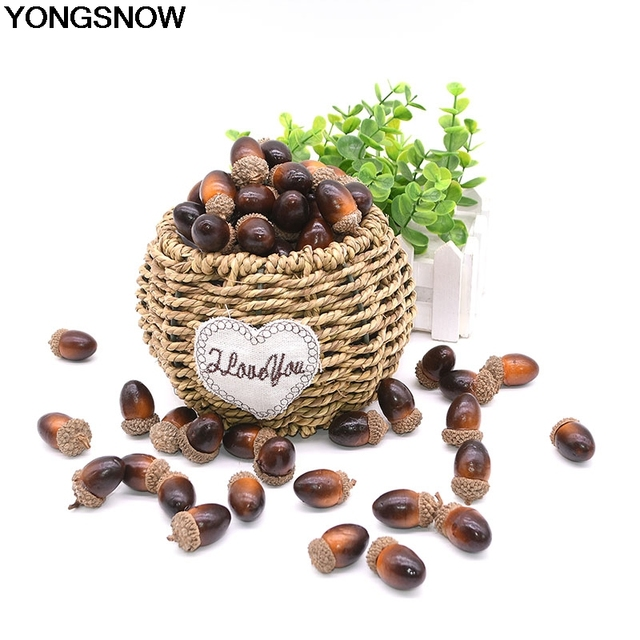 Plastic Artificial Oak Acorn, Pine Cone Nuts (20,50,100 pcs)