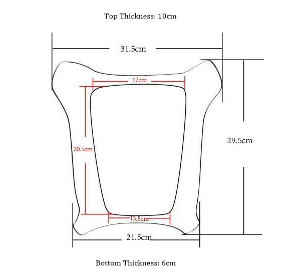 2 top thickness 10cm, bottom thickness 6cm