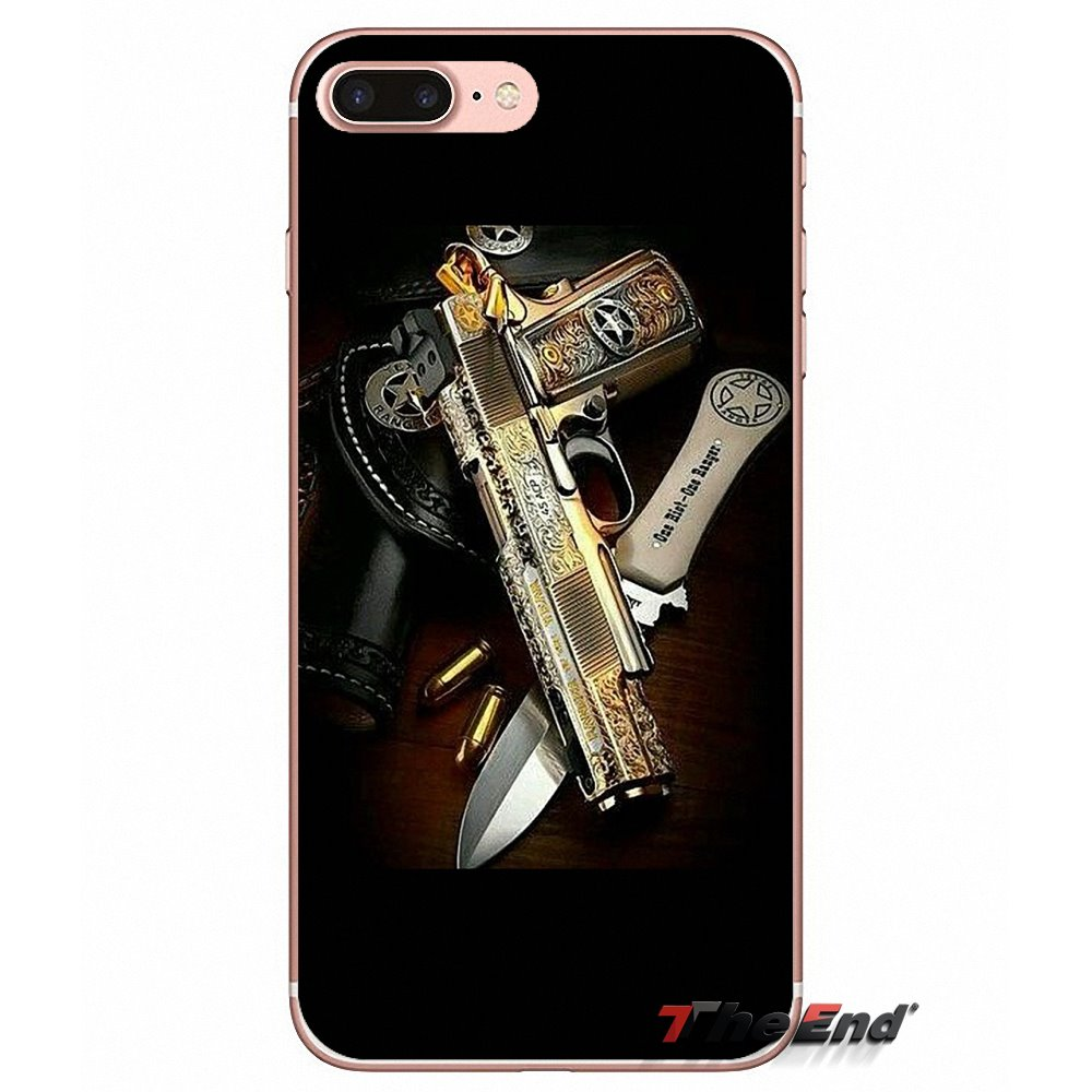 Nice Weapons Rifle Guns Accessories Phone Cases Covers For Samsung Galaxy S3 S4 S5 Mini S6 S7 Edge S8 S9 Plus Note 2 3 4 5 8 Phone Bags & Cases Half-wrapped Case