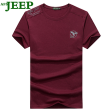 AFS JEEP New Summer Fashion Men T Shirt Boy Short Sleeve Cotton Printing Tees Shirts Casual T-Shirt Male Tops Shirt Clothes 40