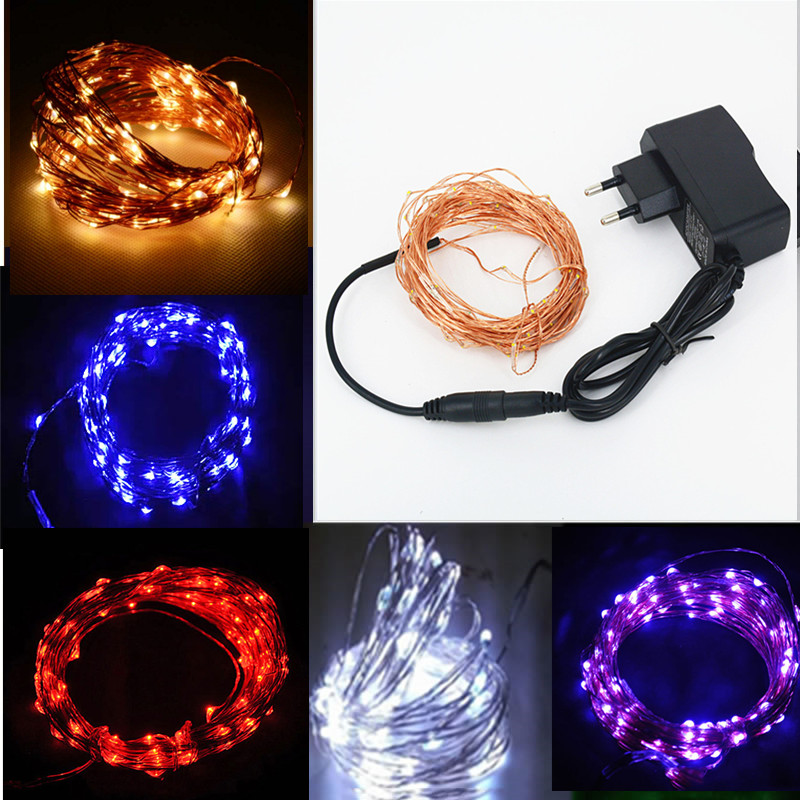 SPLEVISI 12V Waterproof 10M 100 LED Copper String Light Outdoor Christmas Wedding Party Fairy ...
