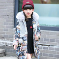 winter girls down coat children down long girl fur hooded collar female children's thick jackets size 110-160