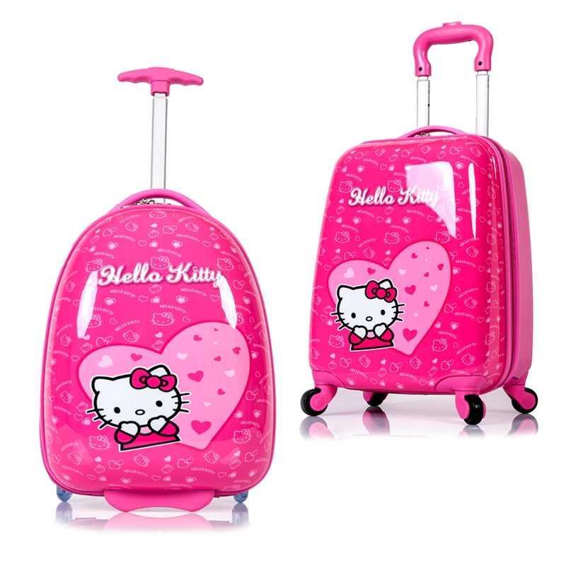 Бренд hello kitty мультфильм дюймов 18 дюймов Студенты путешествия тележка чехол дети интернат коробка аниме девушка чемодан ребенок rolling чемодан