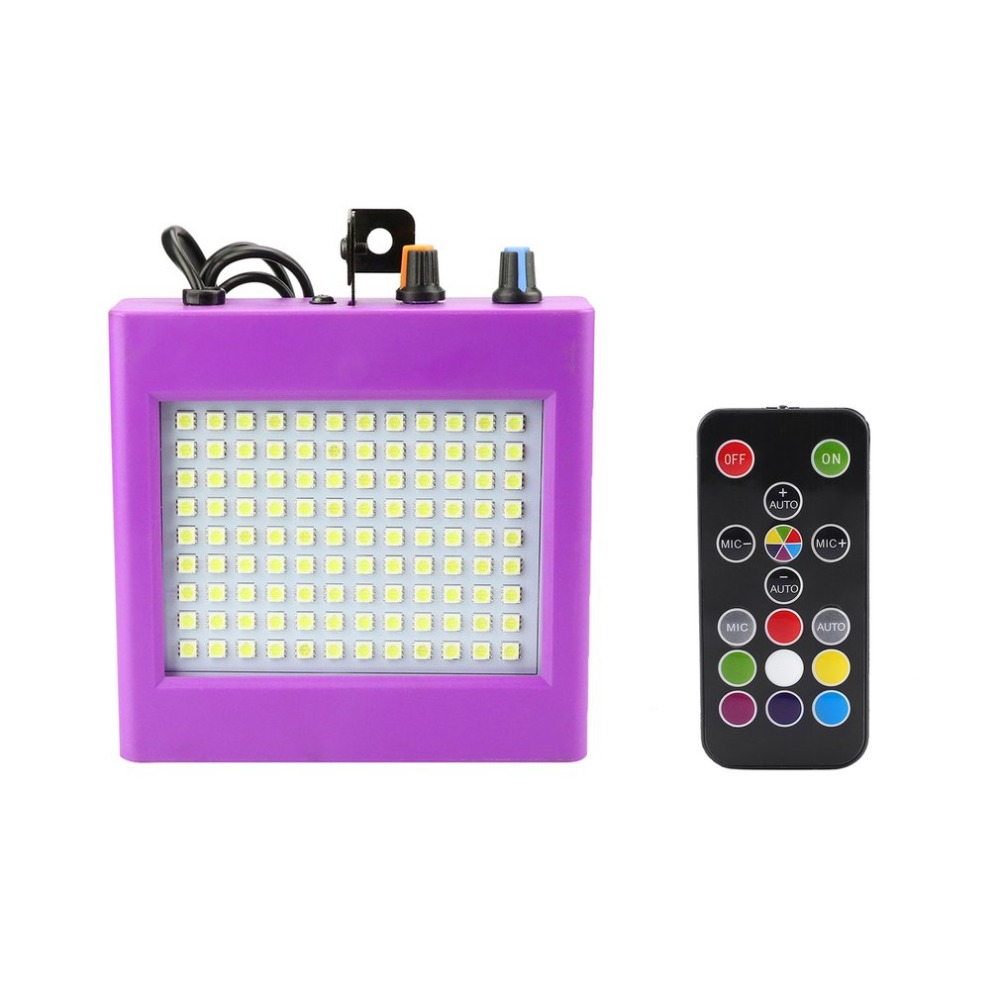 Mini Sound Control LED Stage Lights Multicol 25W Lighting Special Effects Flash Lamp 108Patch Strobe Lights For Bar KTV Ballroom