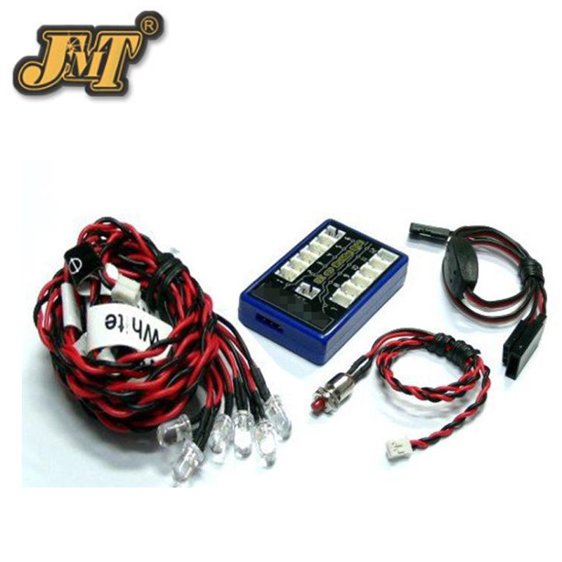 JMT Ultra Bright 12 <font><b>LED</b></font> Multi-color Flashing <font><b>Light</b></font> System for DIY <font><b>RC</b></font> Car Helicopter <font><b>Plane</b></font> Quadcopter image