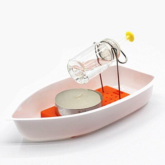 Classic warmte Stoom Kaars Aangedreven Speed Boot Speelgoed handgemaakte stoomschepen speelgoed wetenschap experimentele apparatuur diy materiaal kids gift