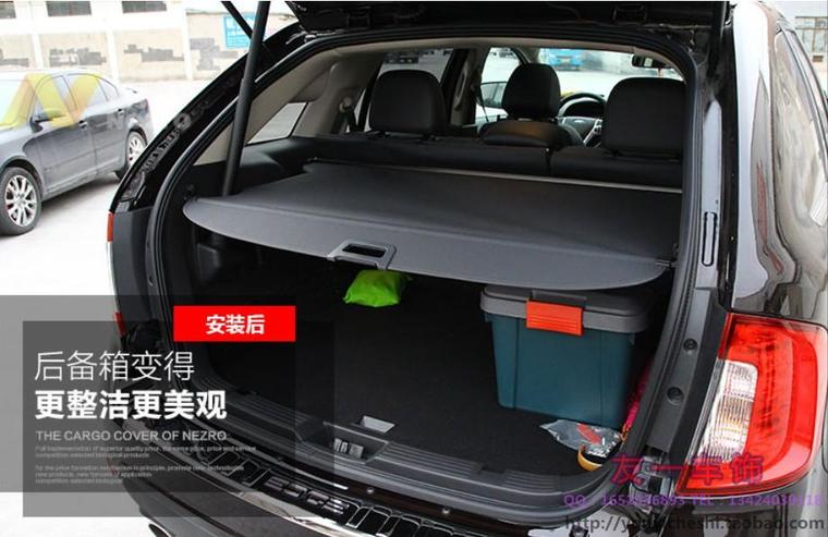 Aluminium alloy + Fabric Rear Trunk Security Shield Cargo Cover for Ford Edge 2009 2010 2011 2012 2013 2014 2015 2016 car rear trunk security shield shade cargo cover for ford edge 2009 2010 2011 2012 2013 2014 2015 black beige