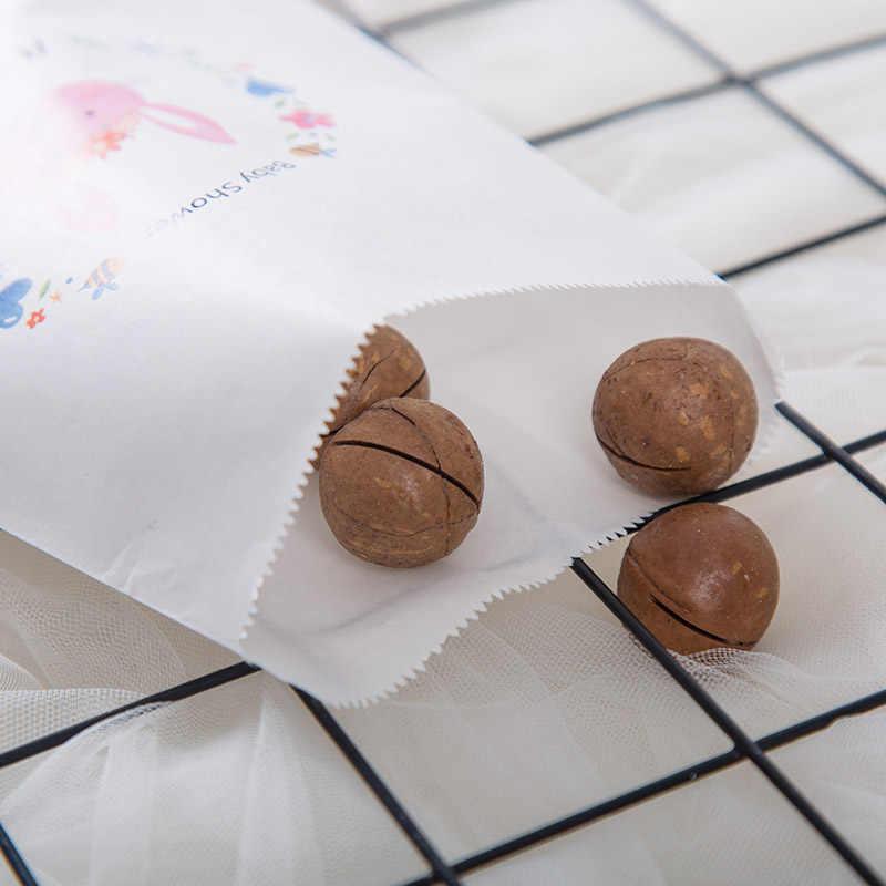Пользовательские парные имя и Дата Свадебные любимые пакеты, деревенские помолвки вечерние буфет бумажные пакеты с принтами Печенье сумка для угощений
