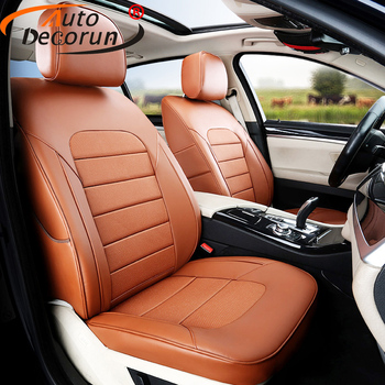 AutoDecorun 17PCS/Set Genuine Leather Seat Covers for Volvo XC60 Accessories Seat Cover for Car Cushion Protector 2009 2010-2018