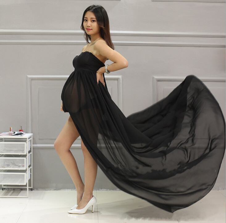 ФОТО Maternity Maxi dresses Maternity Photography Props Chiffon Dresses Off Shoulders Maxi Pregnant Dresses Pregnancy Photo Shoot 88