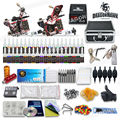 Complete Tattoo Kit 2 Machine Gun Set Equipment Power Supply 40 Color Ink with case 10-24GD-3