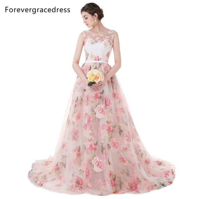 Forevergracedress Beautiful Prom Dress Colorful Sleeveless Long Lace ...