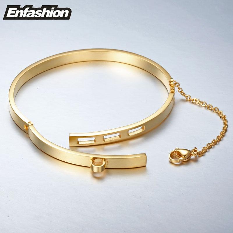 Enfashion Säkerhetskedja Manschettknapp Noeud Armband Guldfärg - Märkessmycken - Foto 5
