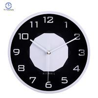 Wall Clock For Decor Black White Wall Clock Minority Vogue European Luxury Graceful Round Silently Quartz Needle Mute Watches