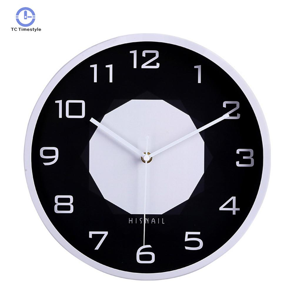 Wall Clock For Decor Black White Wall Clock Minority Vogue European Luxury Graceful Round Silently Quartz Needle Mute Watches