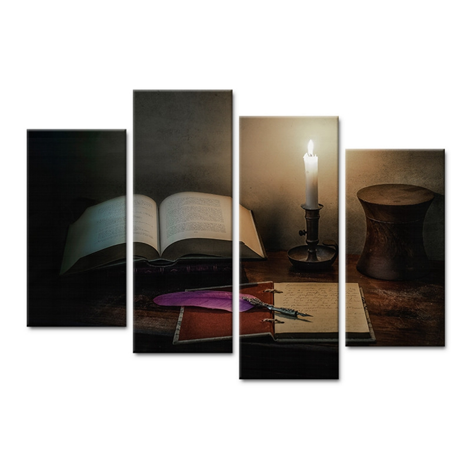 Aliexpress Com Buy 4 Panels Modern Printed Coffee Canvas: Aliexpress.com : Buy Modern Canvas Pictures Home Decor