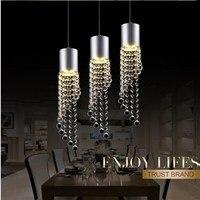 Modern creative luster crystahtl living room dining room led ceilingligs Living room lights Aisle lights