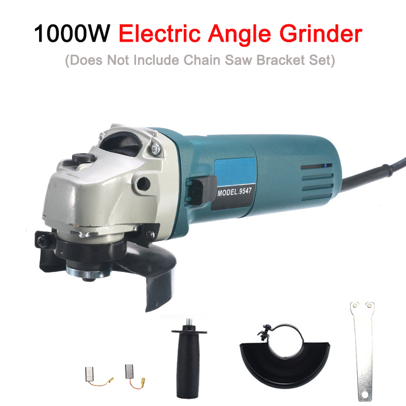 6 Speed Adjustable Electric 100 Angle Grinder M10 Chainsaw Woodworking Cutting Chainsaw Bracket Change Grinder 1000W 11000rpm