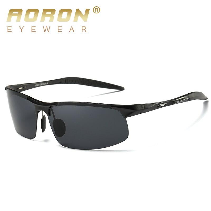 AORON Driving Polaroid Sun Glasses Aluminum Frame Sports Sunglasses Men Polarized Driver Retro UV400 Anti-glare Goggles 3