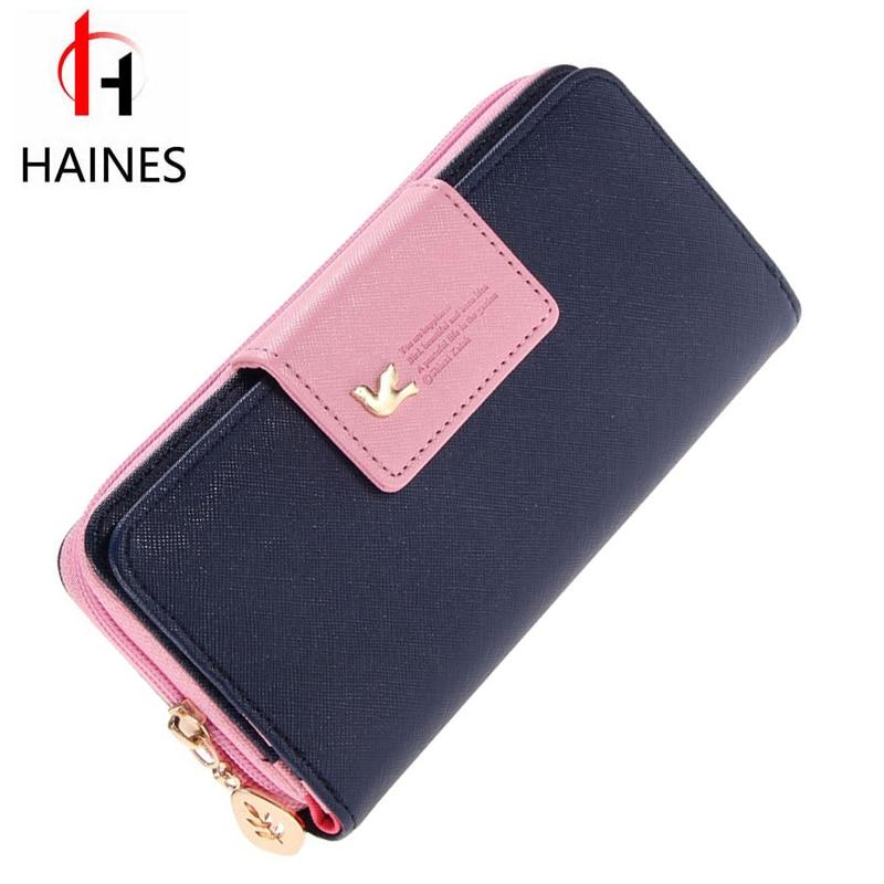 Fashion Wallet Women Luxury Female Carteira Feminina Long Wallets Ladies PU Leather Zipper Purse Card Holders Clutch Money Bag