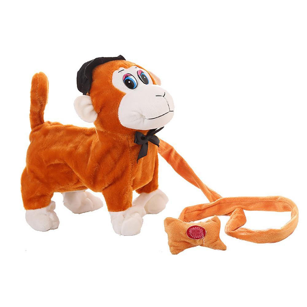 Electric Walking Dancing Plush Monkey with Leash Toddler Stuffed Animal Doll Toy 3