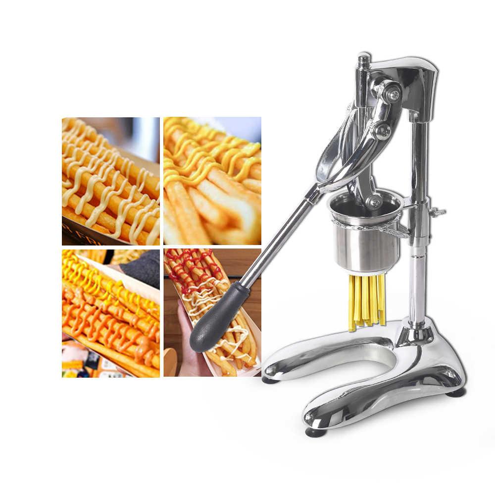 อลูมิเนียมมันฝรั่งชิป Squeezers ด้วยตนเอง French Fries Cutters ยาว 30 ซม.มันฝรั่งเครื่องครัวโปรเซสเซอร์อาหาร