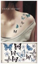 Body Art Waterproof Temporary Tattoos For Men And Women Sexy 3d Butterfly Design Small Tattoo Sticker HC1003