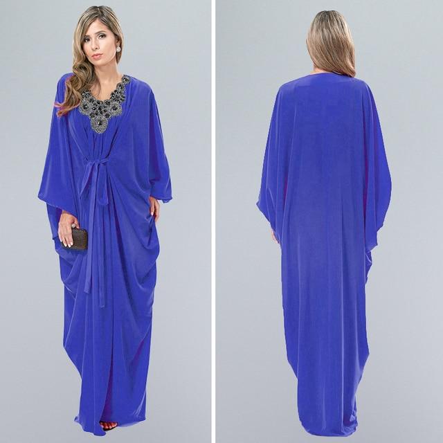 4d924c8c86c0e 2016 new elegant latest arab elegant abaya kaftan islamich fashion muslim  dress clothing design women blue dubai abaya-in Islamic Clothing from ...
