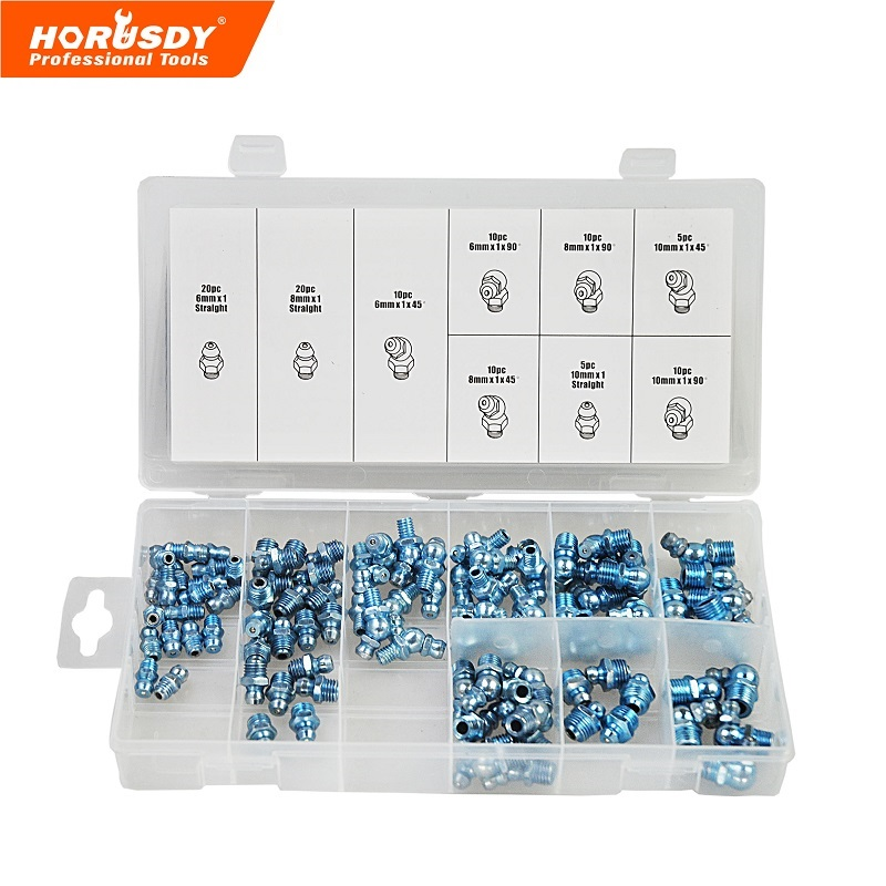 95pc hydraulic grease fitting automobile parts Metric Grease Fitting Assortment Professional Industry Tool hydraulic knockout tool hydraulic hole macking tool hydraulic punch tool syk 15 with the die range from 63mm to 114mm
