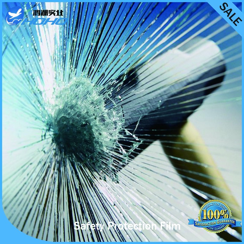 12mil thickness high quality 1.52x10m transparent safety film building use security window film