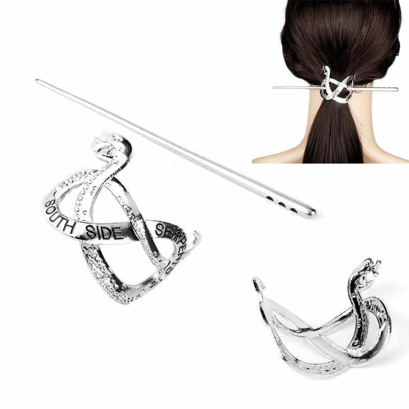 Riverdale South Side Serpents Hair Stick Women's Hair Accessories Hairpin Vintage Headdress Clip Barrettes
