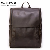 Для мужчин рюкзак пояса из натуральной кожи 15 ноутбук дорожная сумка чёрный; коричневый вместительные Сумки Универсальный многофункц
