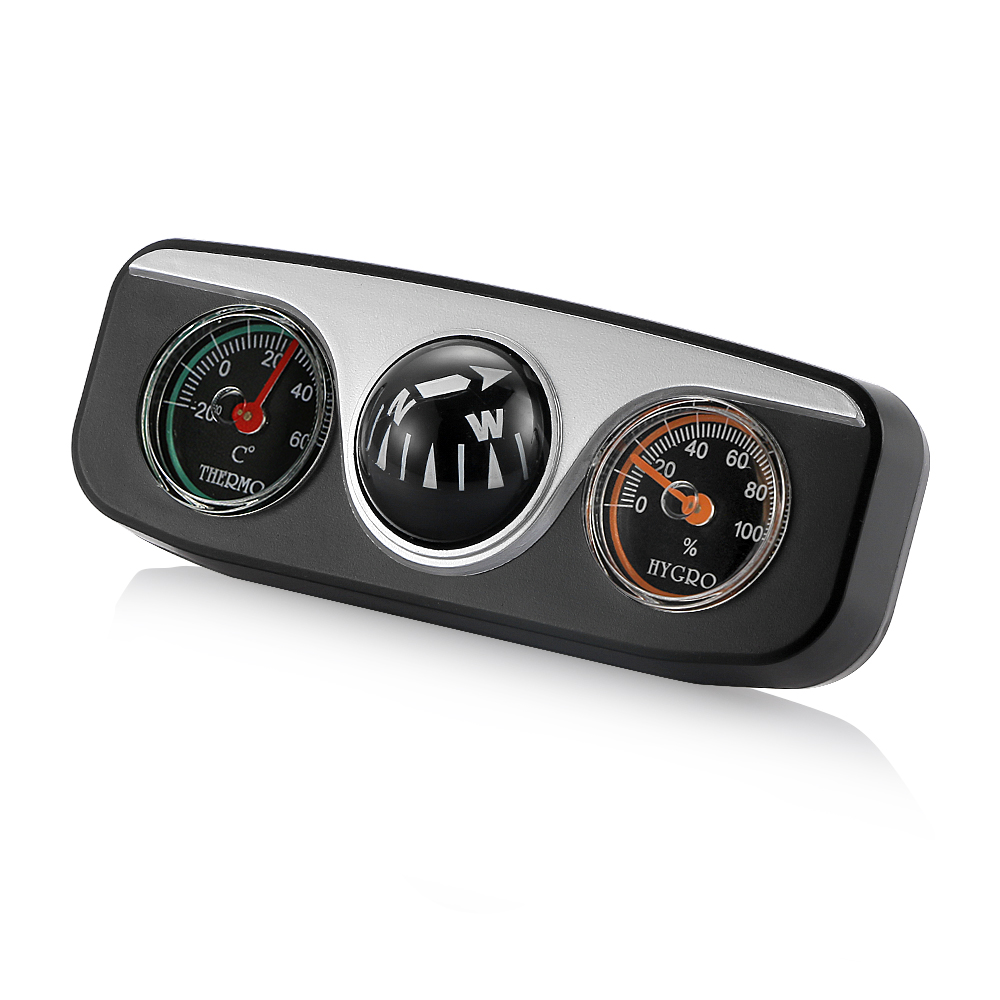 car thermometer with hygrometer compass. Black Bedroom Furniture Sets. Home Design Ideas