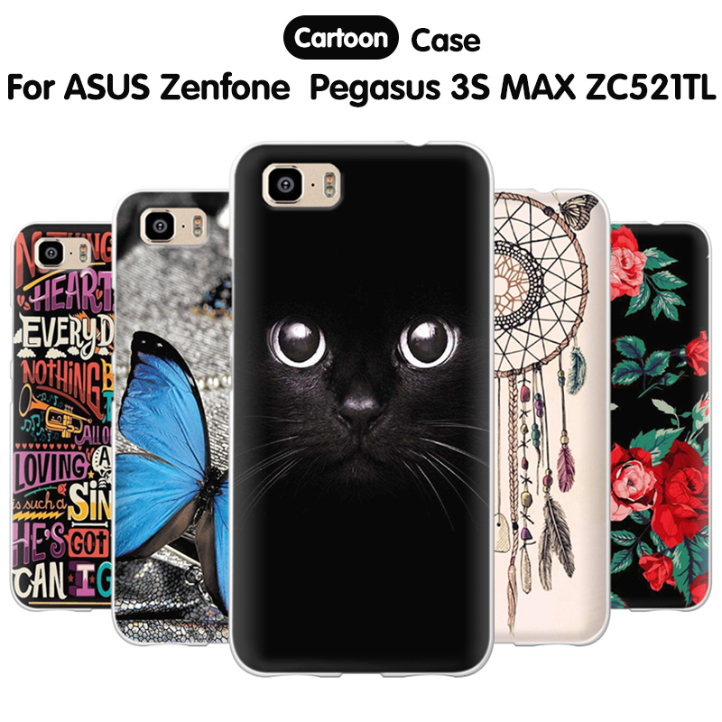 new product 90ffb 47605 EiiMoo Phone Case For ASUS Zenfone 3S Max ZC521TL Case Silicone Back Cover  For ASUS Zenfone Pegasus 3S Max ZC521TL Capa Fundas