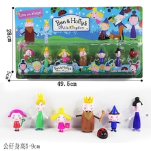 7pcs/set Cute Ben and Holly Little Kingdom Action Figure 5-9cm PVC Models with Packaging Mini Figures Toys Kids Gift