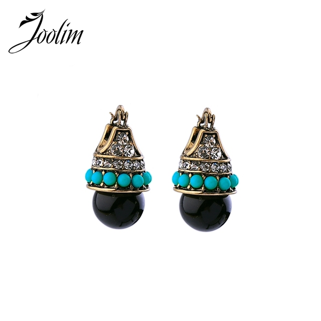 JOOLIM Jewelry Wholesale/ Vintage Boho Style Teardrop Earring Folk Earring Free Shipping Indian Earring Tribal Earring