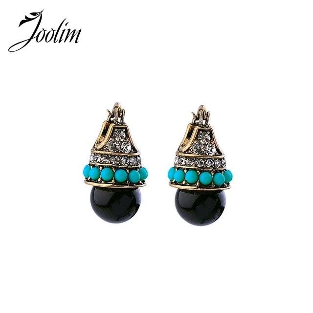 JOOLIM Jewelry Wholesale/ Vintage Boho Style Teardrop Earring Folk Earring Free Shipping Indian Earring Tribal Earring