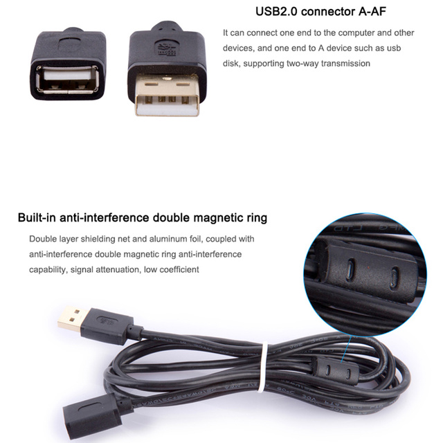 USB Cable Extension USB Extension 10M 2.0 Cable Super Fast Digital Data 3M 5m Data Sync Transfer For Laptop digital dictiona