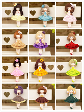 Korea cute cartoon creative three-dimensional resin fridge magnet Pretty flower girl