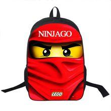 16 Inch high quality lego ninja batman Backpack children mochila school bag teenager printing cartoon dragon ball Z backpacks
