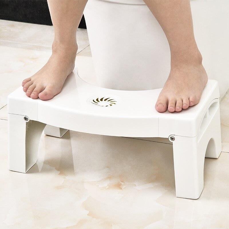 Folding Squatting Stool Baby Toilet Bathroom Chair Kids Toilet Training Potties Seats Ottomans Non-slip Folding Toilet Step