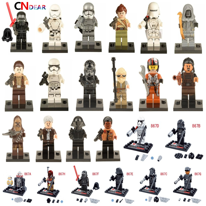 Star Wars 7 The Force Awakens Finn Rey Kylo Ren The Force Awakens Jedi Mini Building Blocks Bricks Toys new hot star wars 7 the force awakens kylo ren pvc action figure collectible model toy 16cm