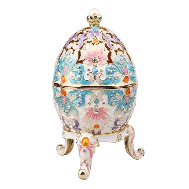 Big faberge egg jewery trinket box russian craft royal russian egg big faberge egg jewery trinket box russian craft royal russian egg trinket box bejeweled bling jewelry negle Images