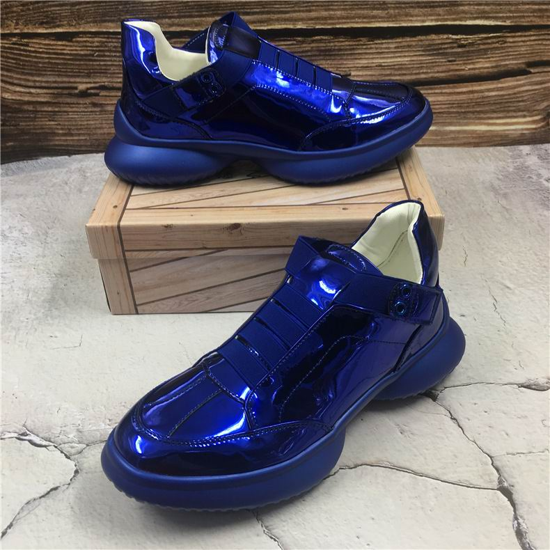 Designer Bout Chaussures Bande Élastique Luxe Pour Rond Hommes Confortables Bleu Errfc Mode Tendance Homme Argent Nouveauté Bleu De argent Décontracté ARj5L34q