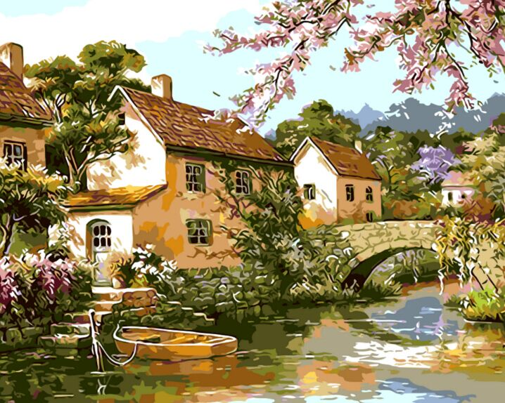 Pintura Para Salas De Estar : ٩ ^u f^ ۶ nuevo estilo paisaje pintado a mano lienzo pintura