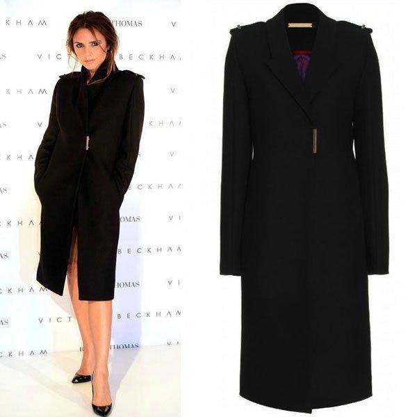 Free Shipping Fashion Victoria Cashmere Dress Coat Women, Black ...