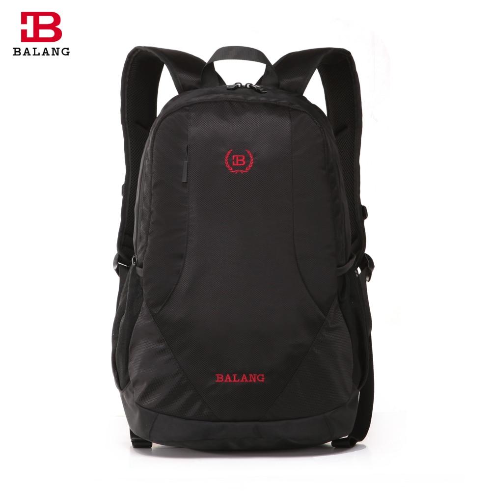 BALANG Brand Fashion Men Lightweight Practical School Waterproof Nylon 16 Laptop Backpack College Travel Unisex Shoulder Bags